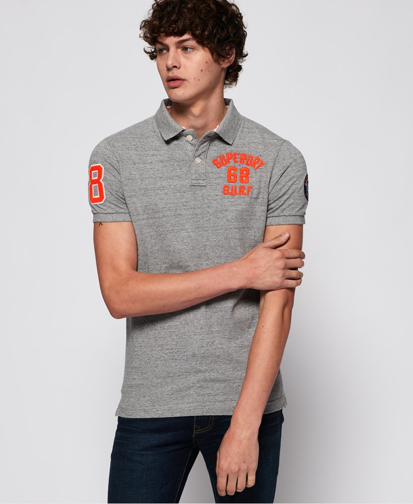 Superdry Classic Short Sleeve Super State Polo Shirt thumbnail 1