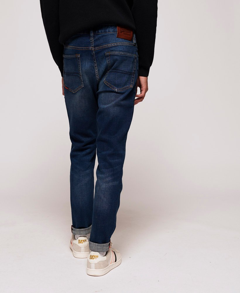 New Mens Superdry Factory Second Slim Jeans Quays Blue Ripped