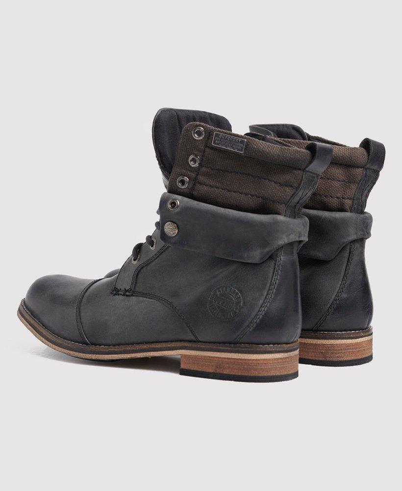 Mens - Mid Trawler Boots in Black/black