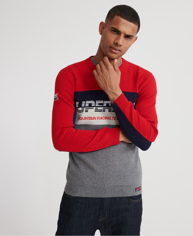 Superdry Mens Mega Logo Crew-Neck Sweater