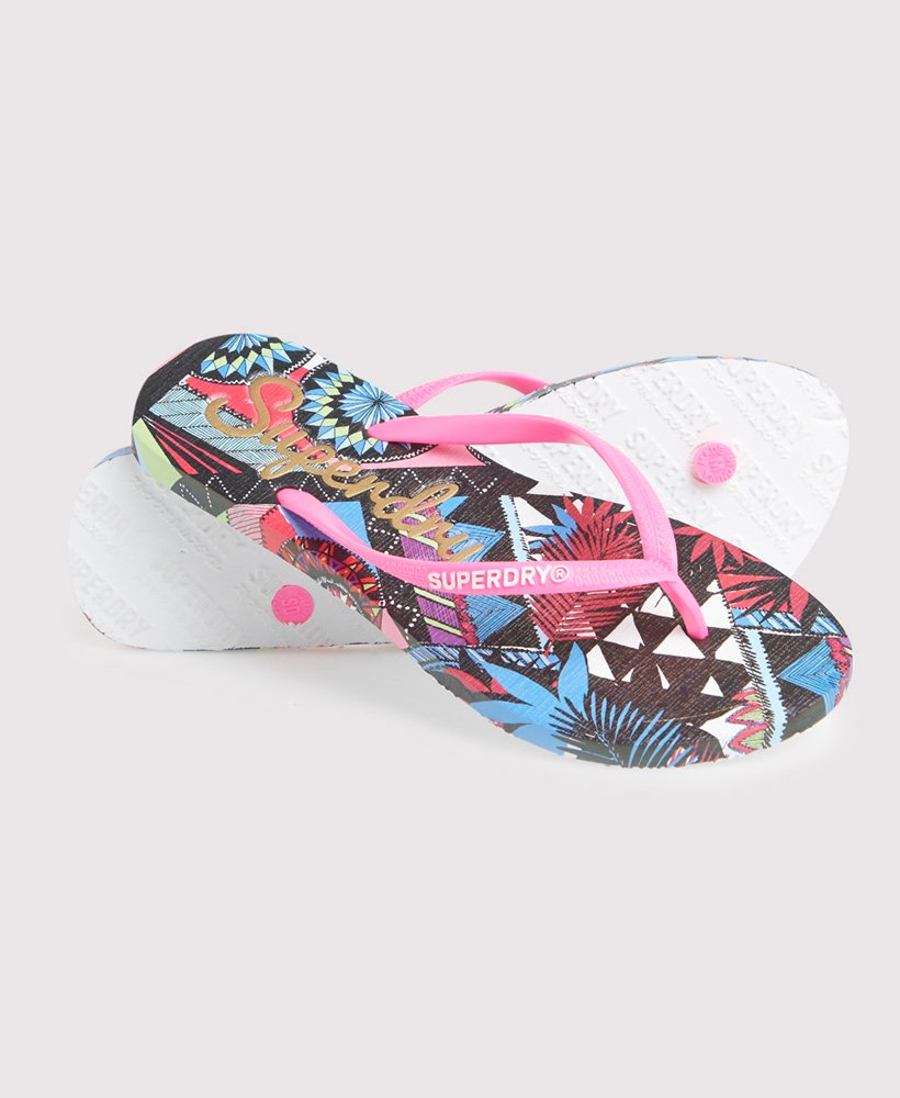 Superdry Super Sleek All Over Print Flip Flops thumbnail 1