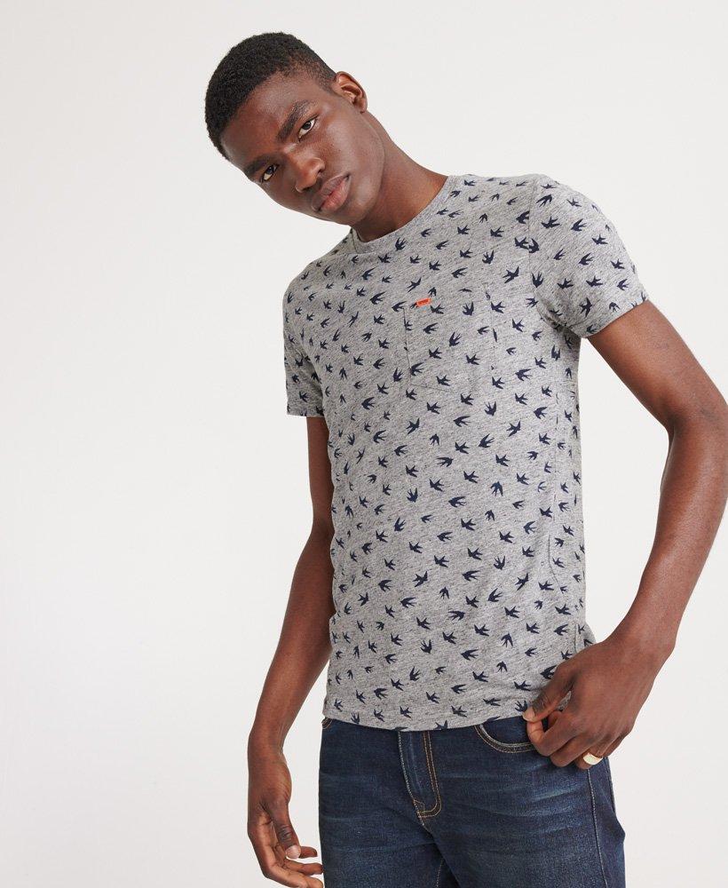 Superdry Leichtes Santa Maria T Shirt mit durchgehendem