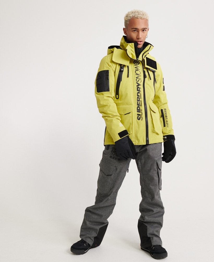Mens Ultimate Snow Rescue Jacket In Sulpher Yellow Superdry