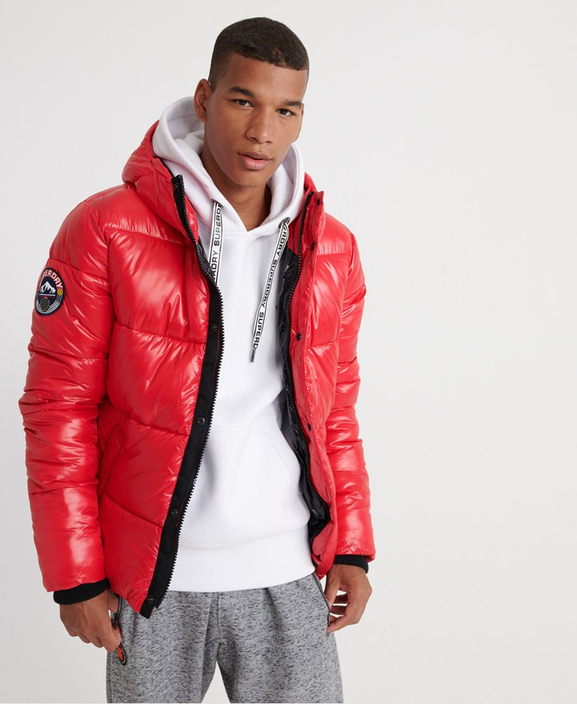 superdry coats mens red