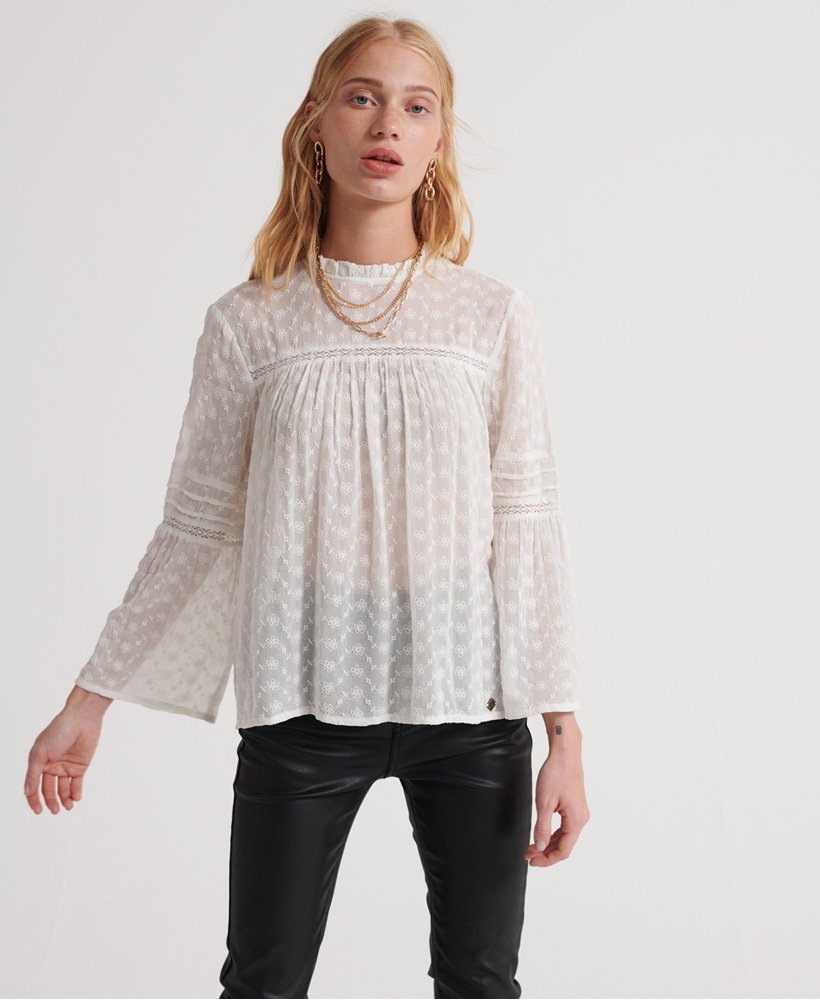 Superdry Taylor Broderie Top  thumbnail 1