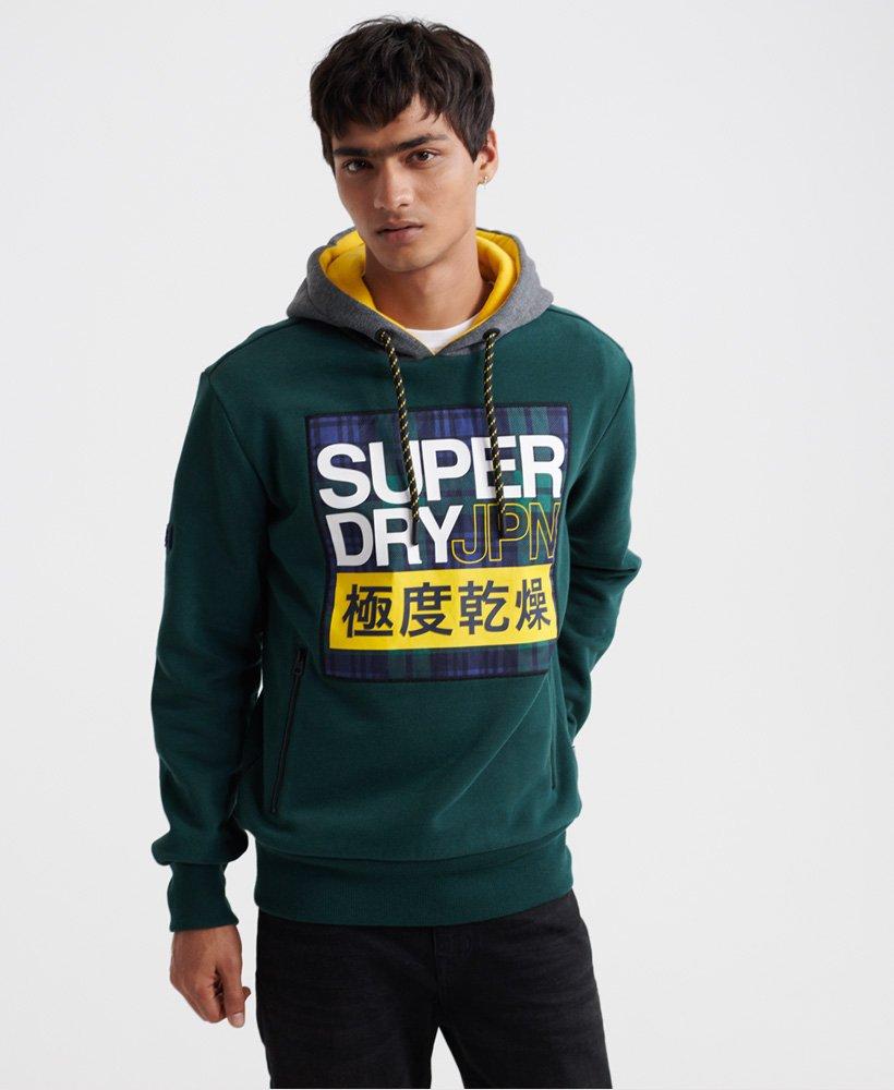 Superdry Crafted Check Contrast Hood Cappuccio Uomo