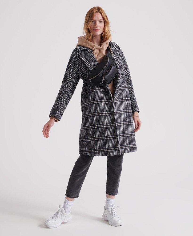 Superdry Koben Wool Coat Abrigo para Mujer