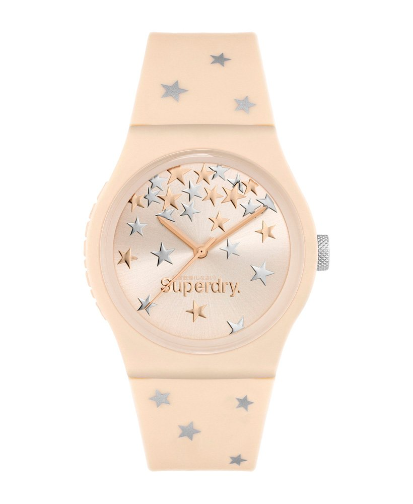 Superdry Superdry Ladies Urban White Rose Gold Spotty Watch