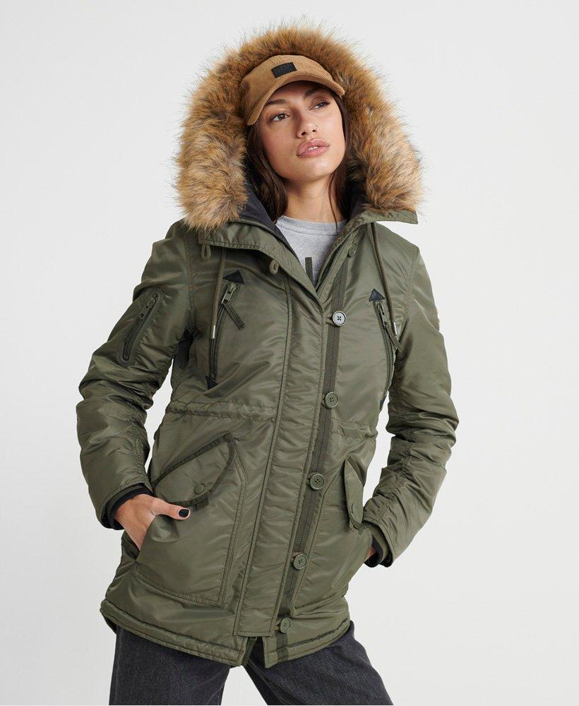 Khaki Parka Jacket Womens