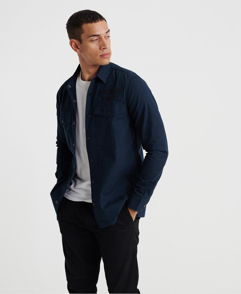 Superdry Utility Field Edition L//S Shirt Camisa para Hombre