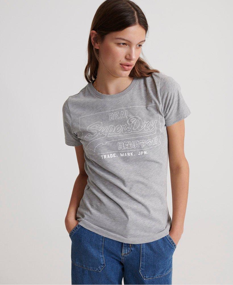Superdry Outline T-shirt met Vintage logo