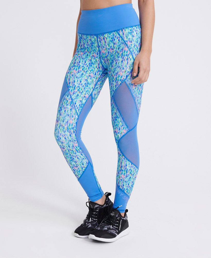 Superdry Leggings a inserti in mesh Active thumbnail 1