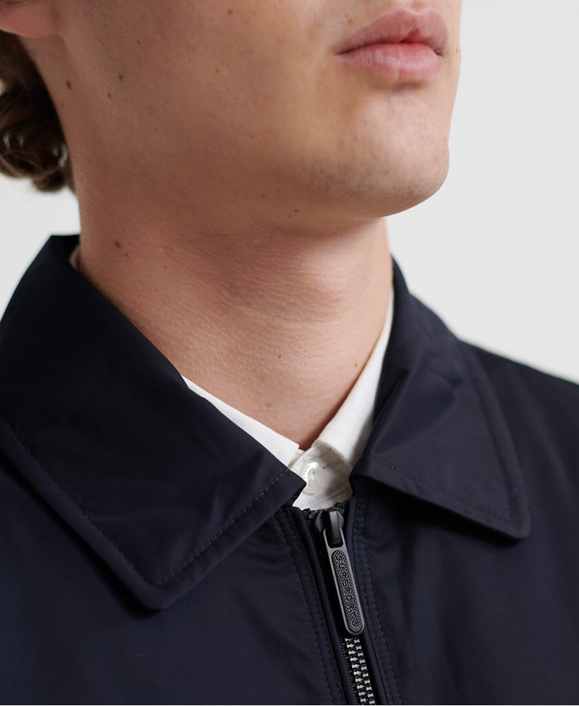Mens Edit Collared Harrington Jacket in Eclipse Navy
