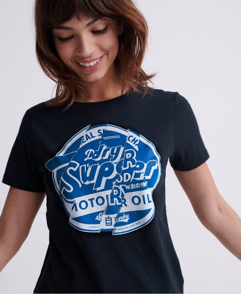 Superdry Womens Brand Language T-Shirt