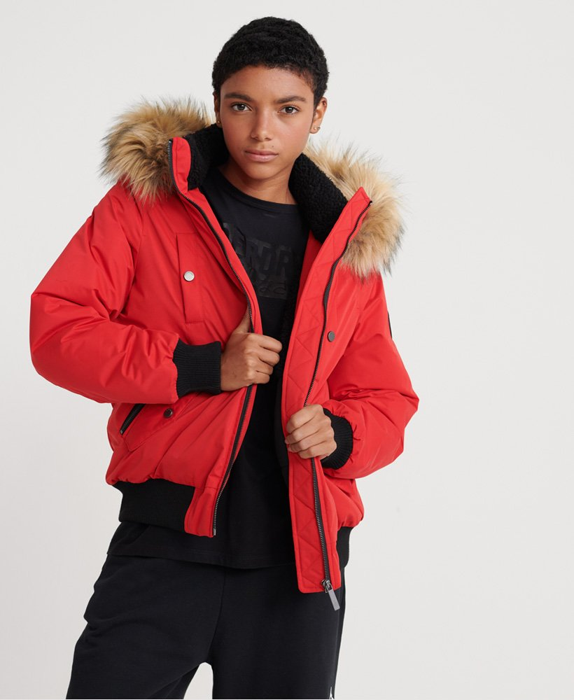 superdry red jacket womens