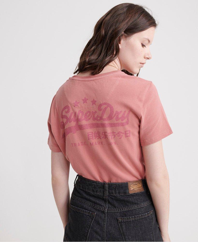 Superdry T shirt à logo Vintage Heritage pour Femme