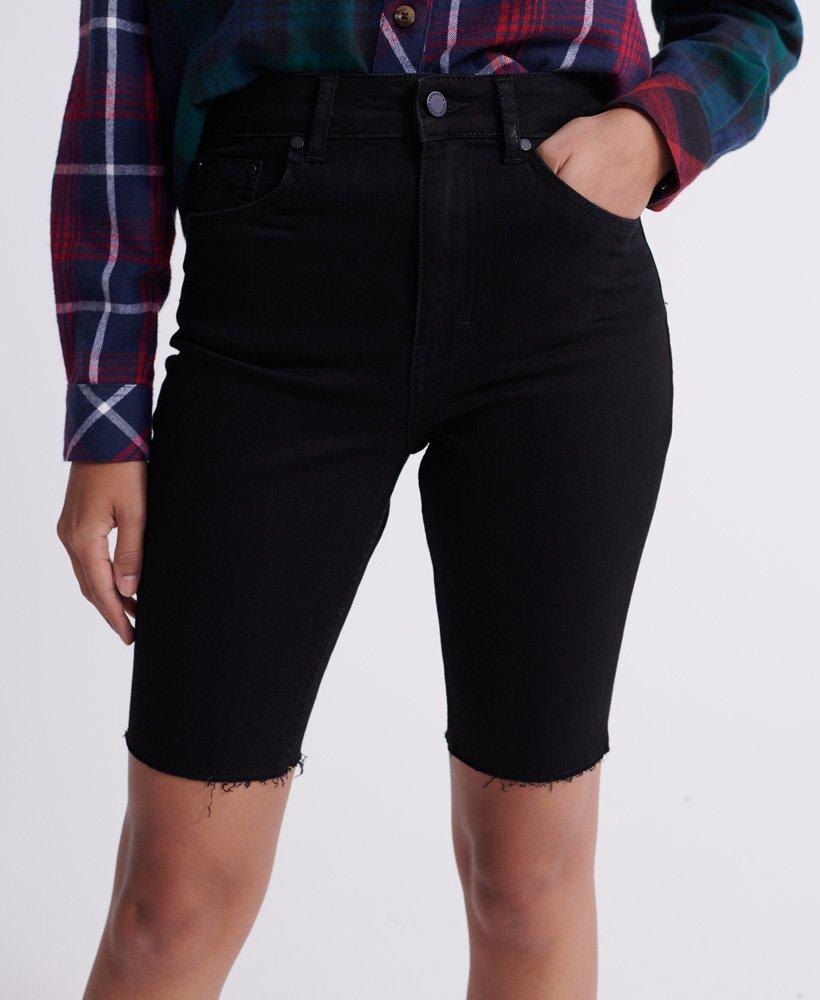 long black shorts
