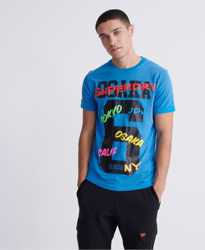 Superdry Osaka T shirt i en medium kraftig kvalitet Herrer