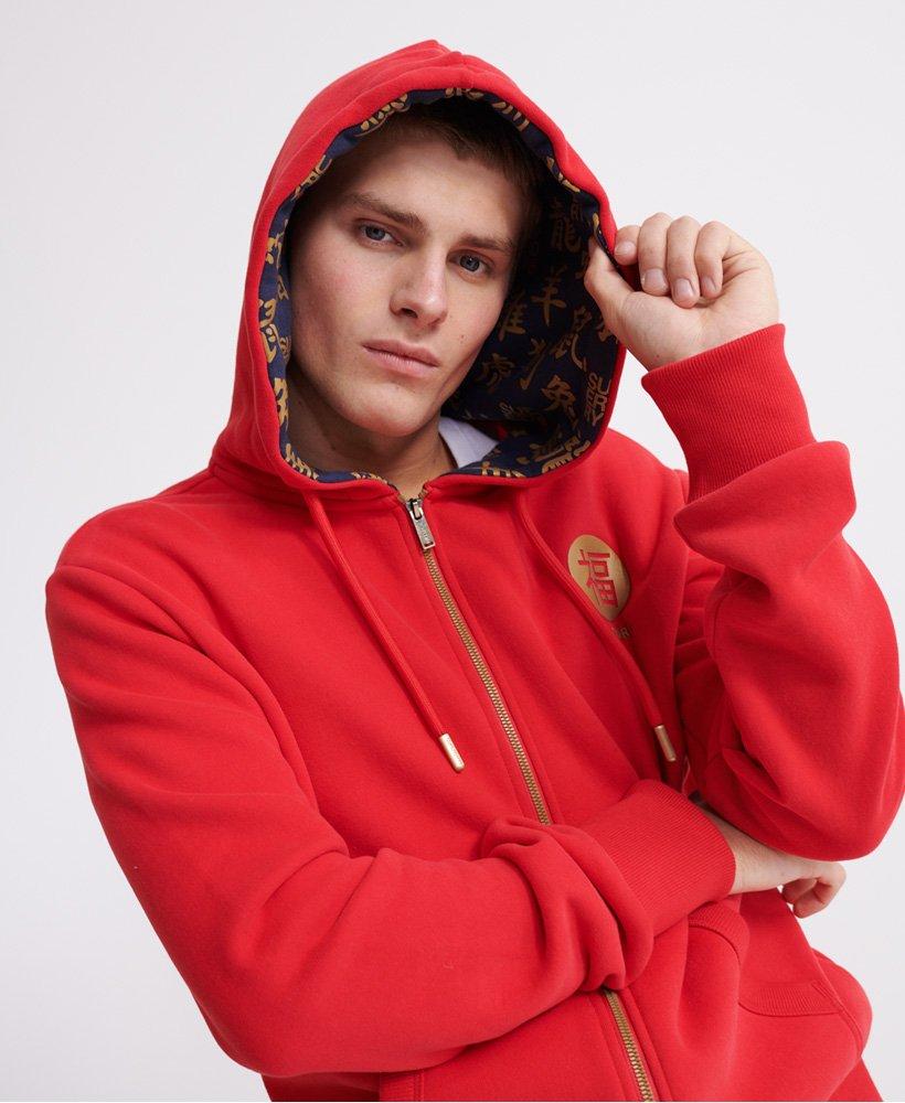 Superdry Orange Label Veste En Sweat Zippée Homme Rouge