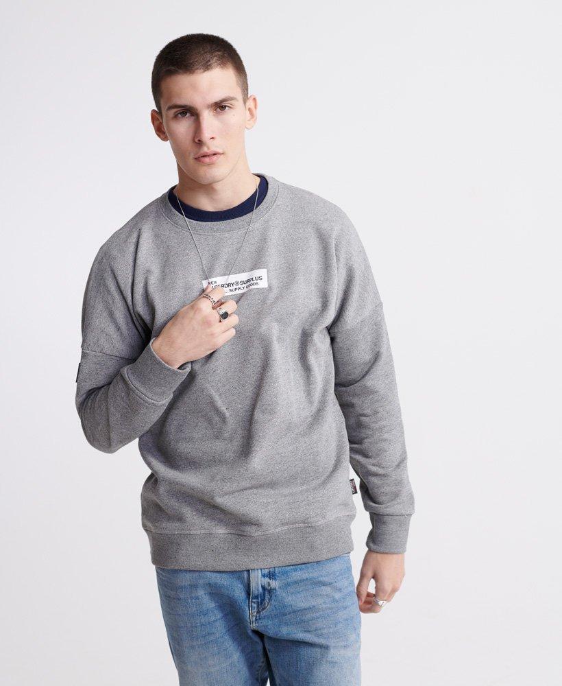 Superdry Surplus Goods sweatshirt med rund hals i loopback-stof thumbnail 1