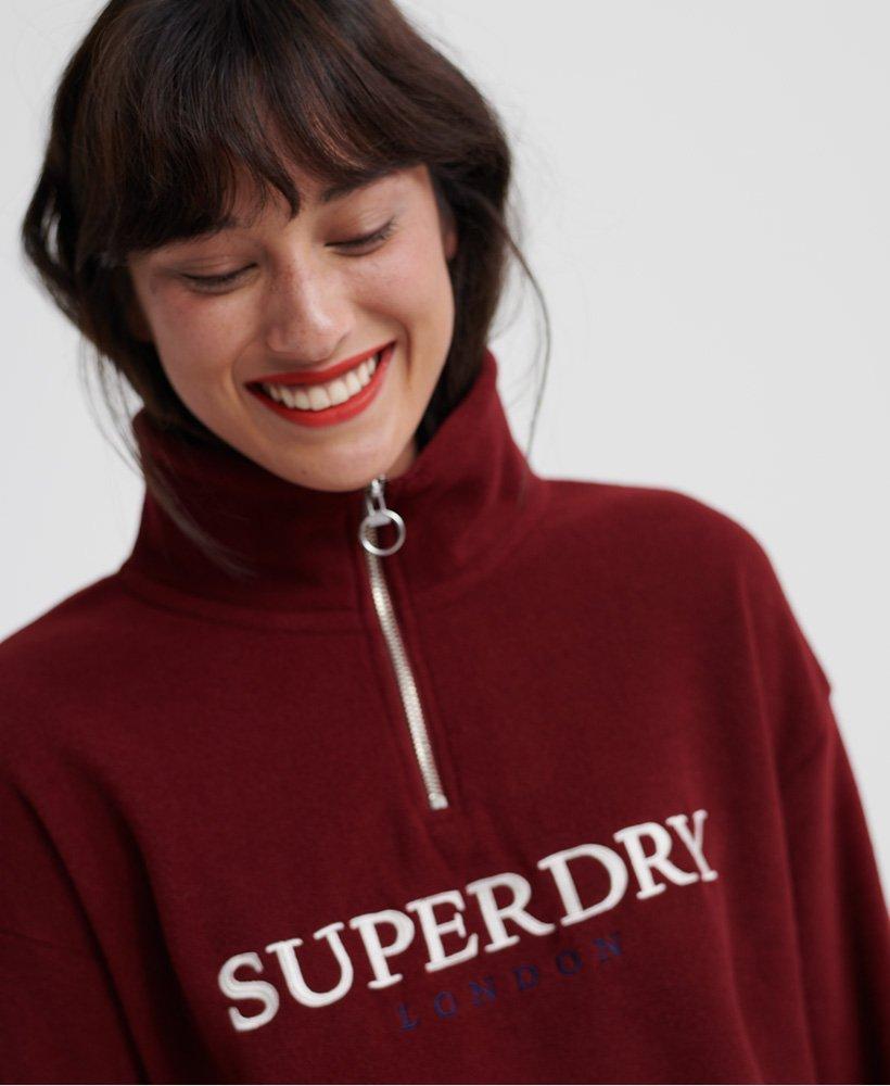 Superdry Womens Rowan Fleece Half Zip Sweatshirt