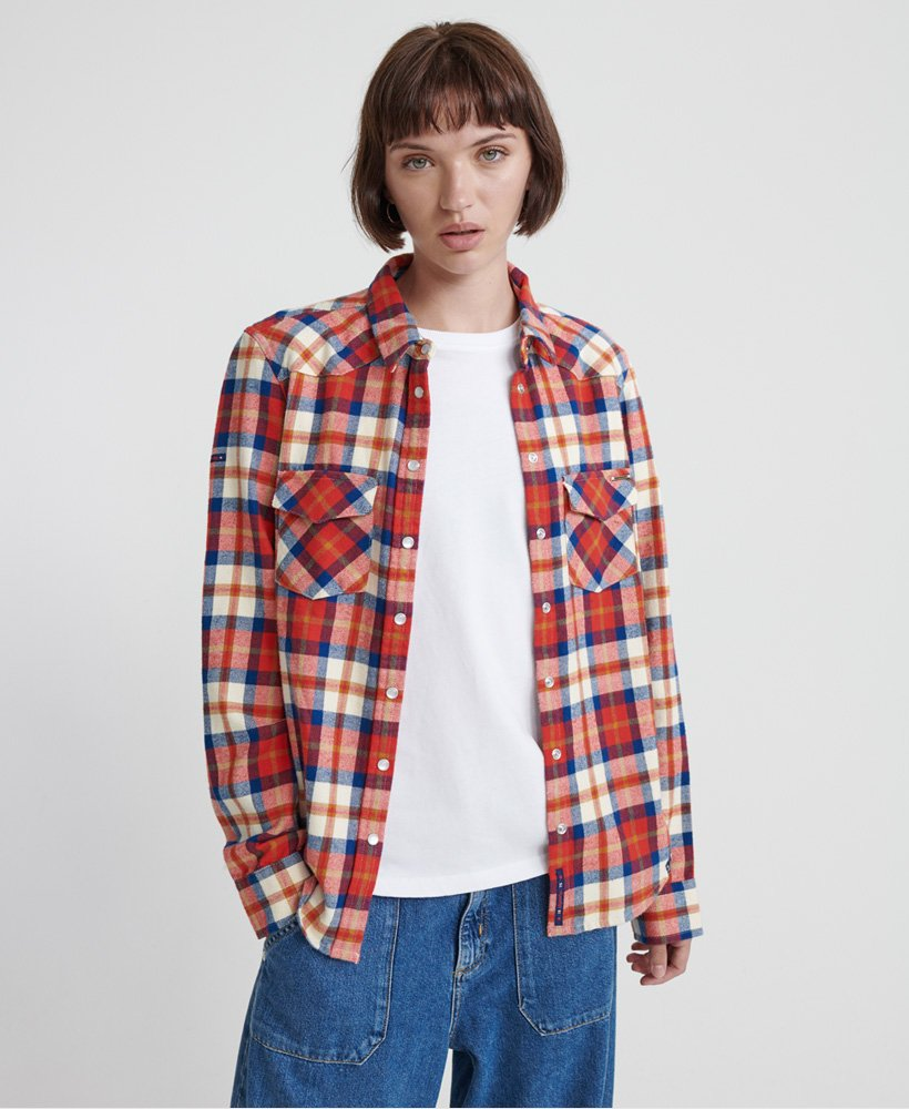 Superdry Bailey Western Check Shirt thumbnail 1