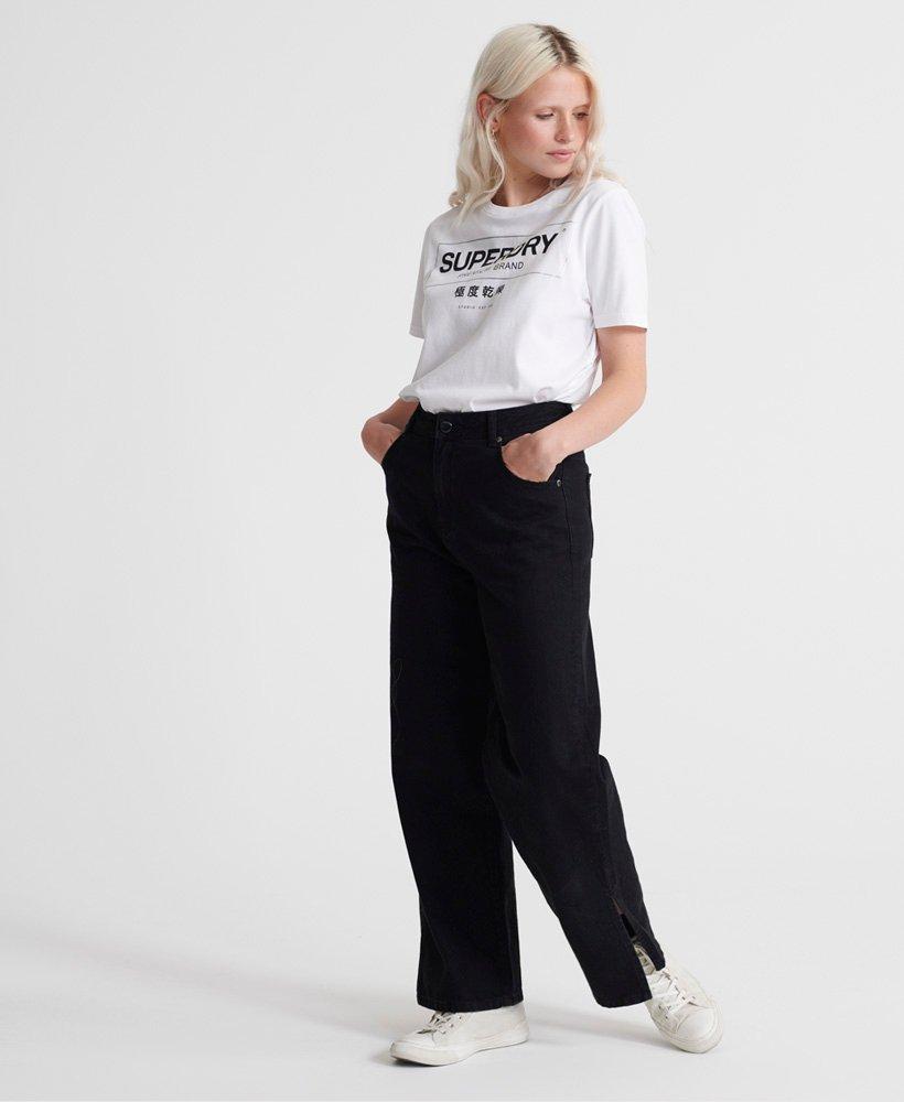Superdry Mono Premium Band Oversized T skjorte Dame T skjorter