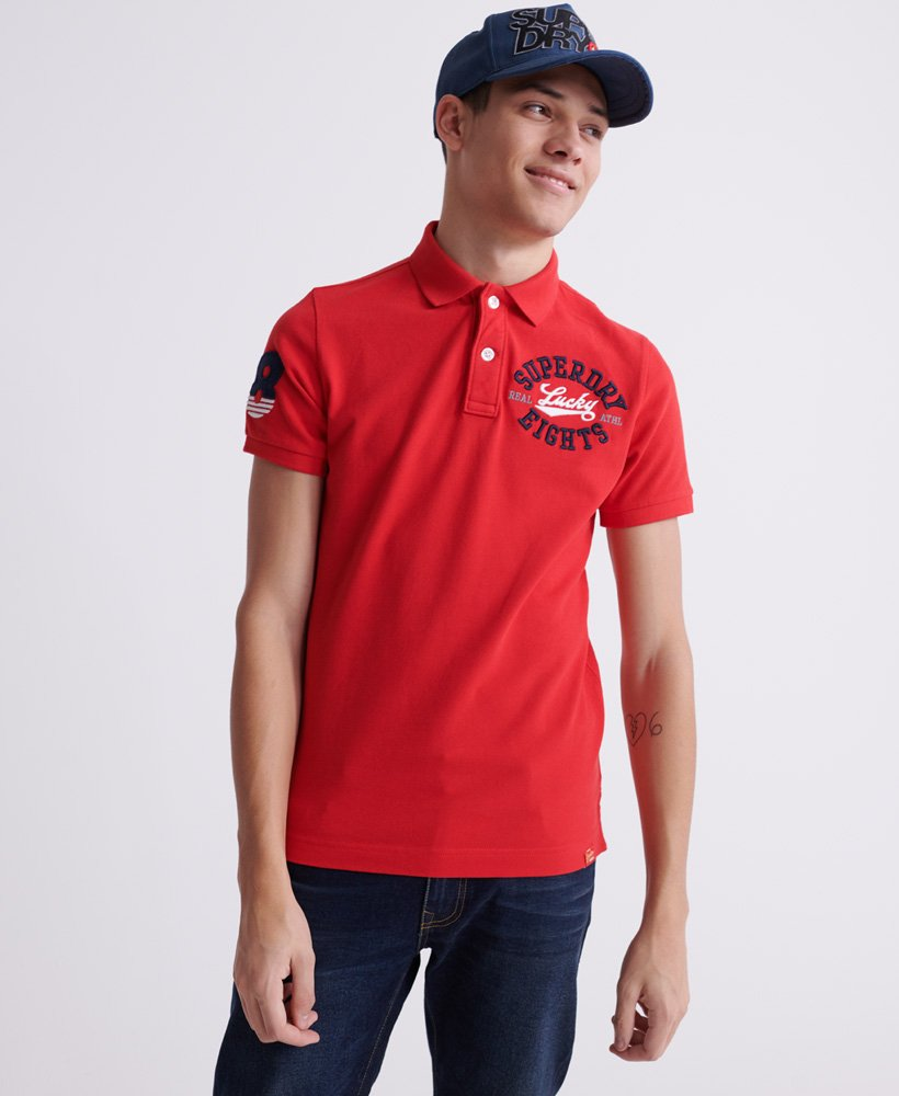 Superdry Organic Cotton CNY Superstate Short Sleeve Polo thumbnail 1
