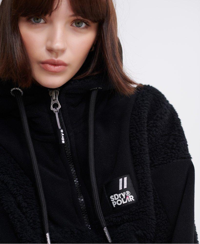 Womens Hybrid Borg Zip Hoodie in