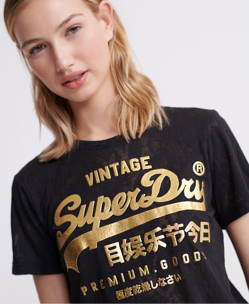 Superdry T shirt avec serpent à effet dévoré Premium Goods