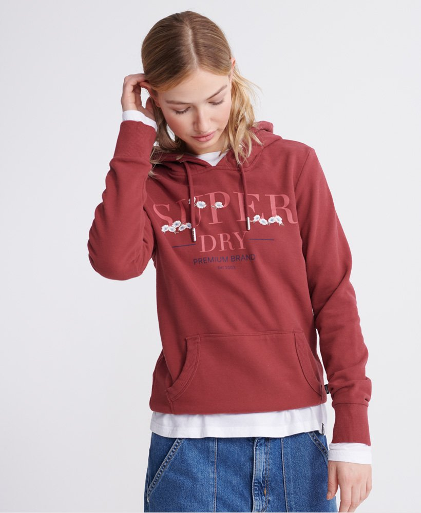 Superdry Sweat à capuche brodé Serif Floral Sweats à