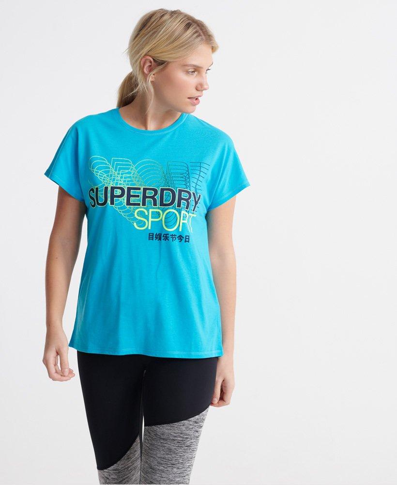 Superdry Core T skjorte med splitt i ryggen Dame T skjorter