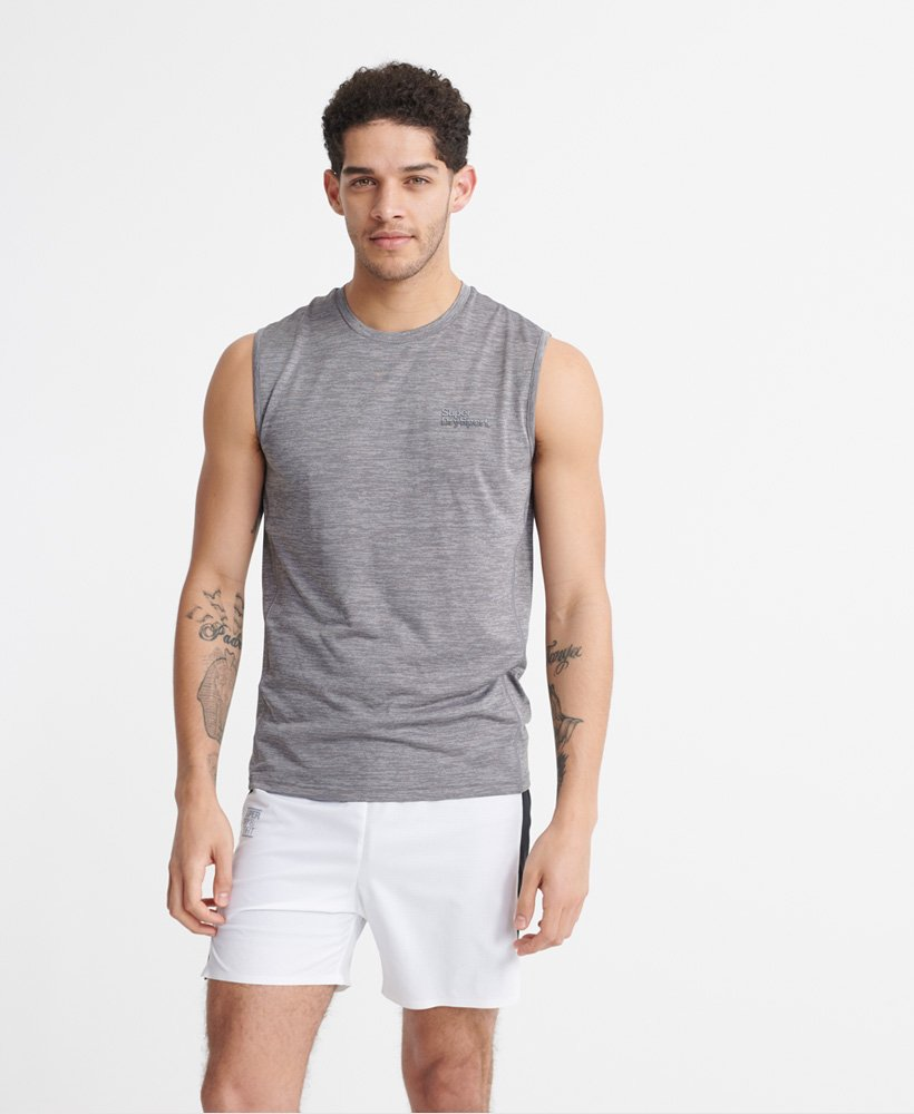 superdry gym training sleeveless hoodie