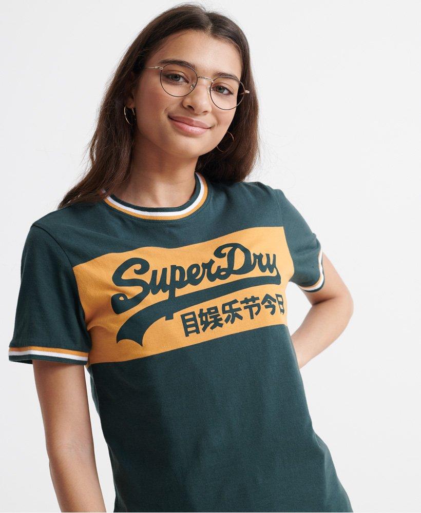 Superdry Paneldesignet College T shirt med Vintage logo