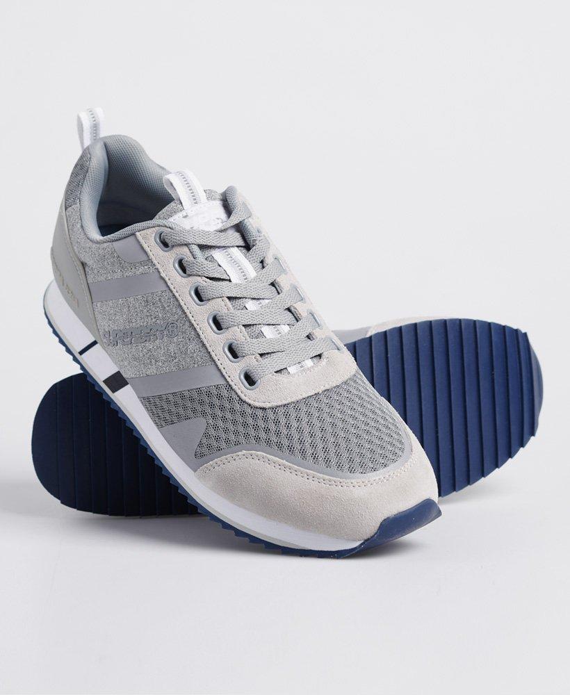 Superdry Herren Schuhe Fero Runner Sneaker grau schwarz
