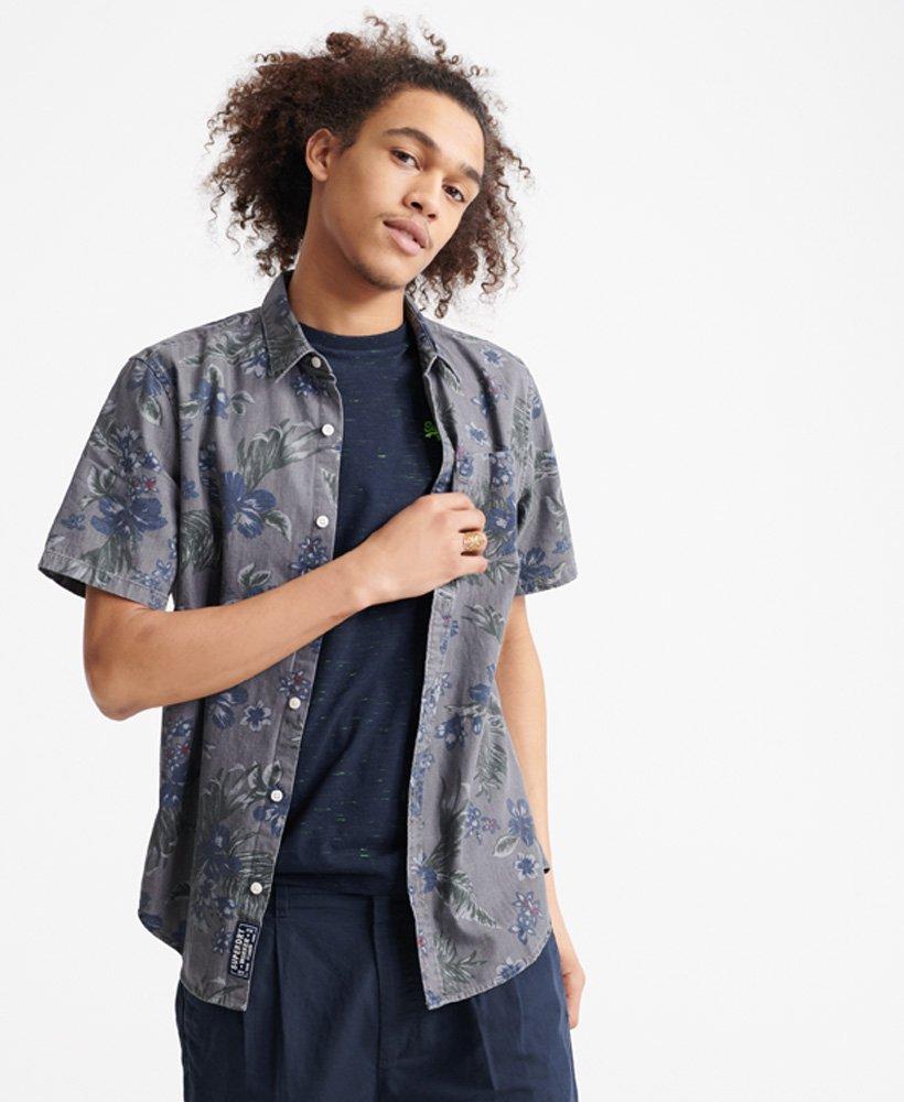 Superdry Miami Loom skjorte med korte ermer Herre Skjorter