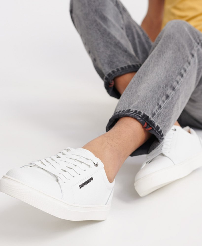 Mens - Truman Leather Lace Up Trainers
