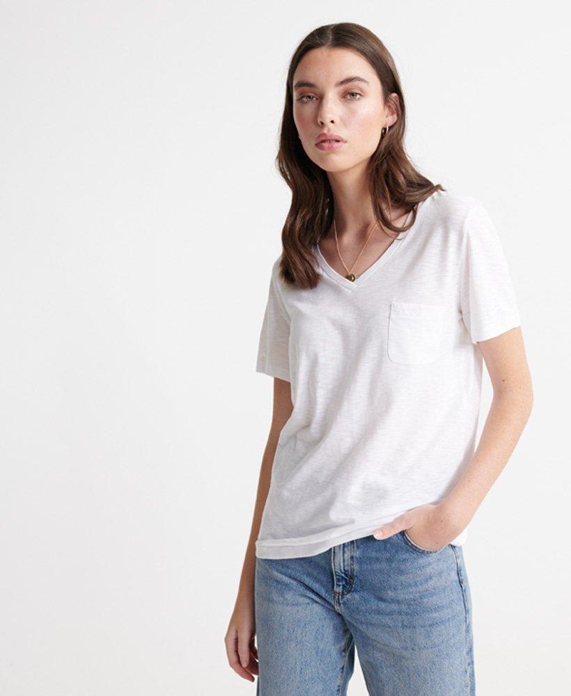 Superdry Orange Label Essential T skjorte med V hals Dame