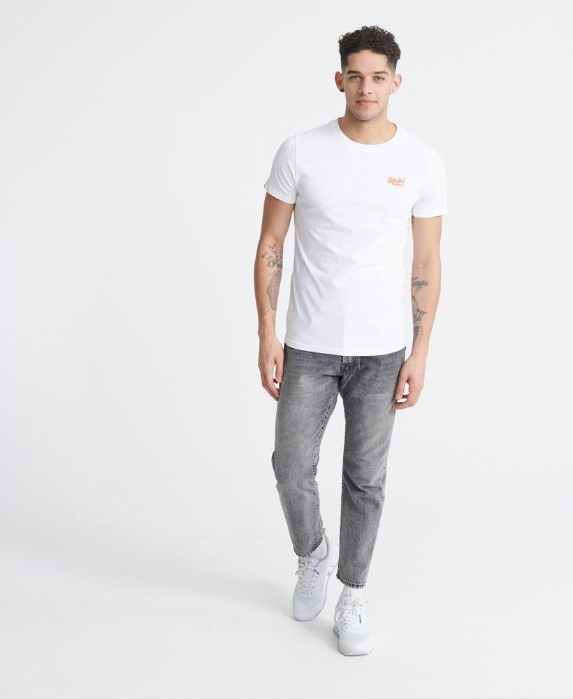 Superdry New Men/'s Orange Label Neon Lite T-Shirt-Optique BNWT