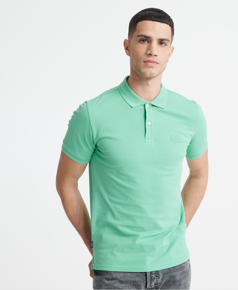 Superdry Organic Cotton Micro Lite Pique Polo Shirt  thumbnail 1