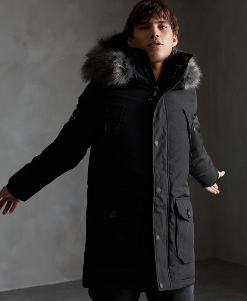 Superdry Premium Ultimate Down Parka Coat thumbnail 1