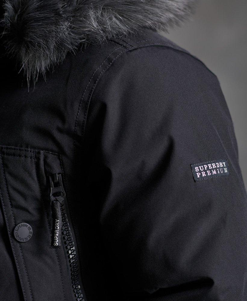 Superdry Parka en duvet Premium Ultimate Noir Reste bien au