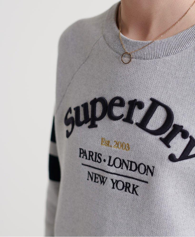 Superdry Amy stickad tröja med logga Tjejer Stickat