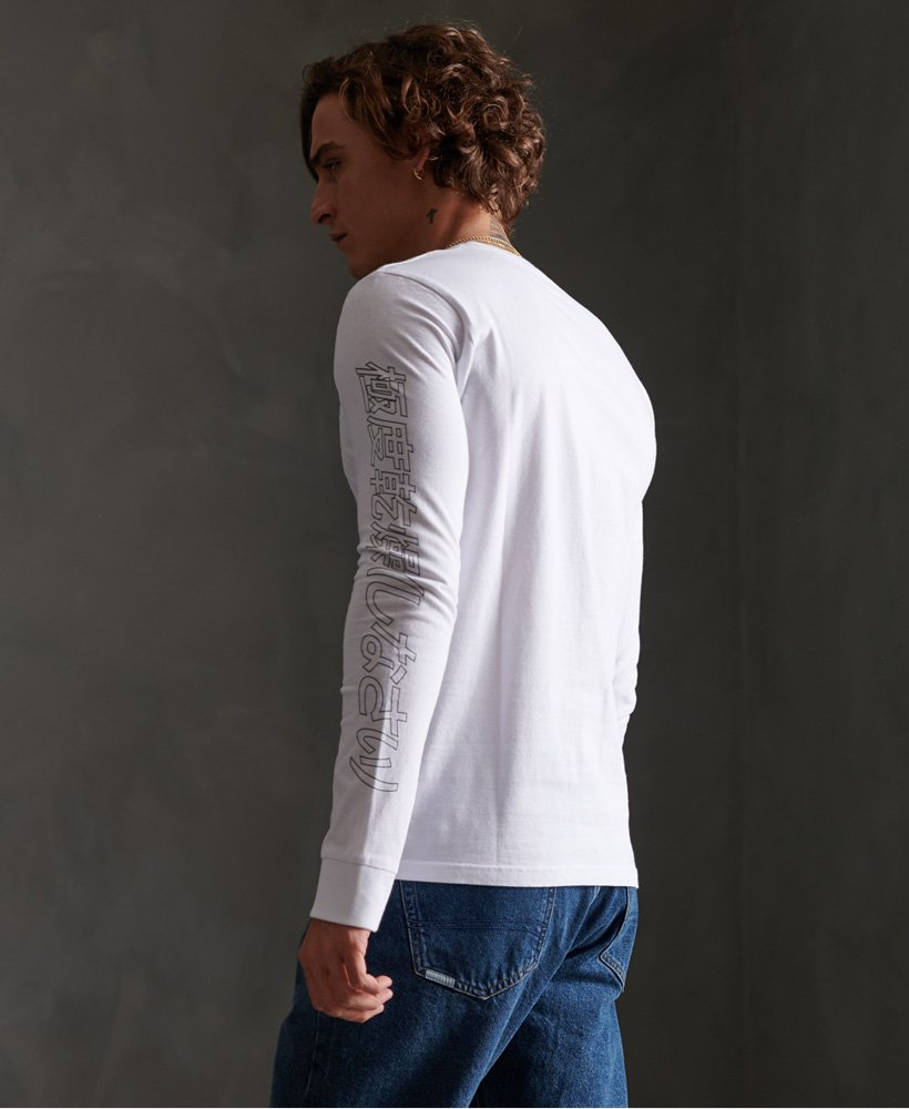Superdry Japan Code T skjorte med lange ermer Herre T skjorter