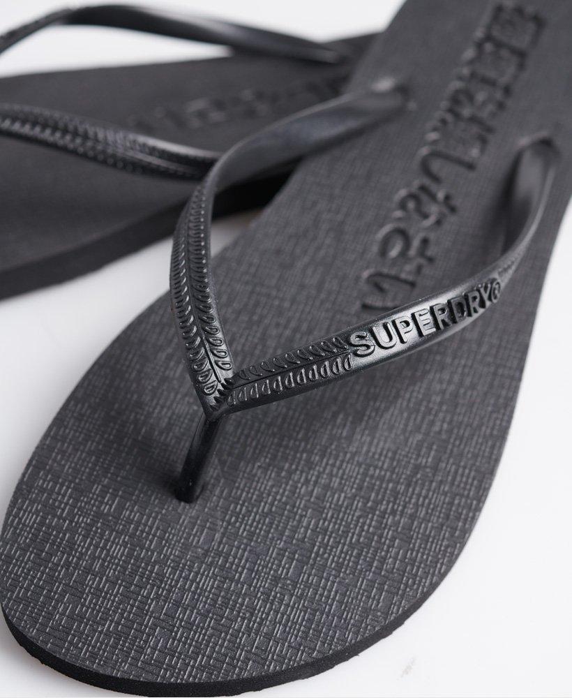 Neue Herren Superdry Sleek Flip Flops Schwarz