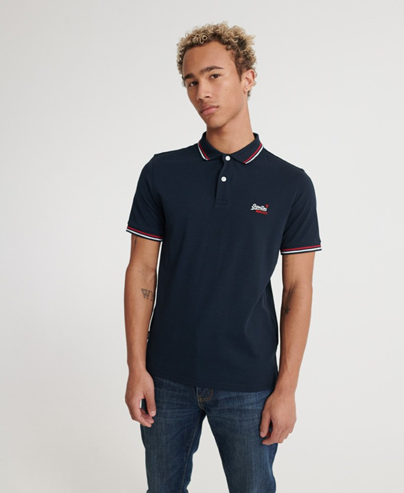 Superdry Classic Micro Lite Tipped Short Sleeved Polo thumbnail 1