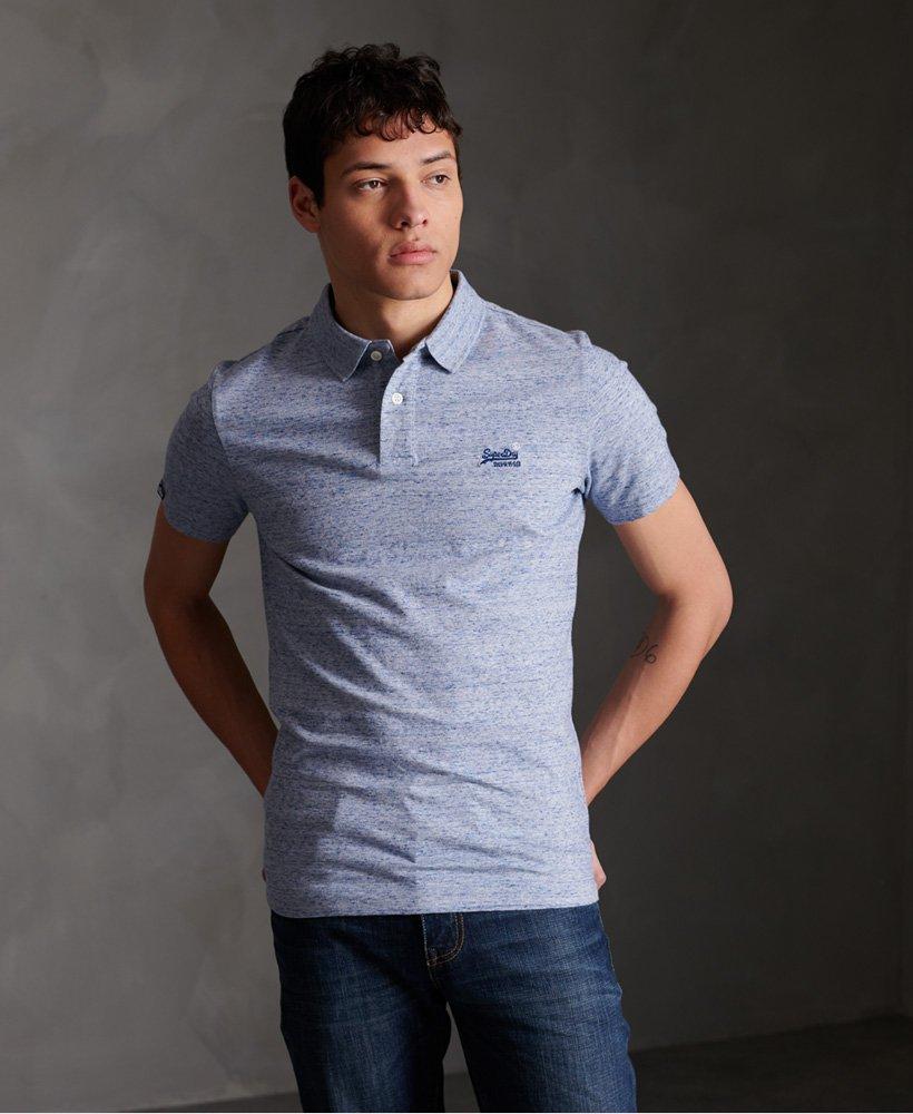 Superdry Organic Cotton Jersey Short sleeved Polo Shirt thumbnail 1