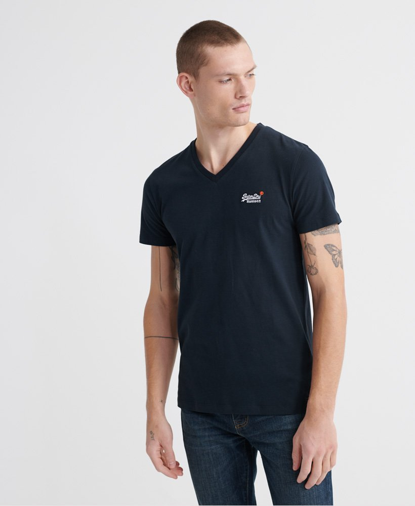 Superdry Organic Cotton Vintage Embroidery V-Neck T-Shirt thumbnail 1