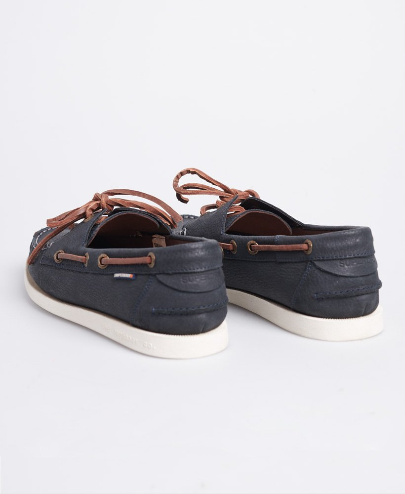 Mens - Boat Shoes in Navy   Superdry