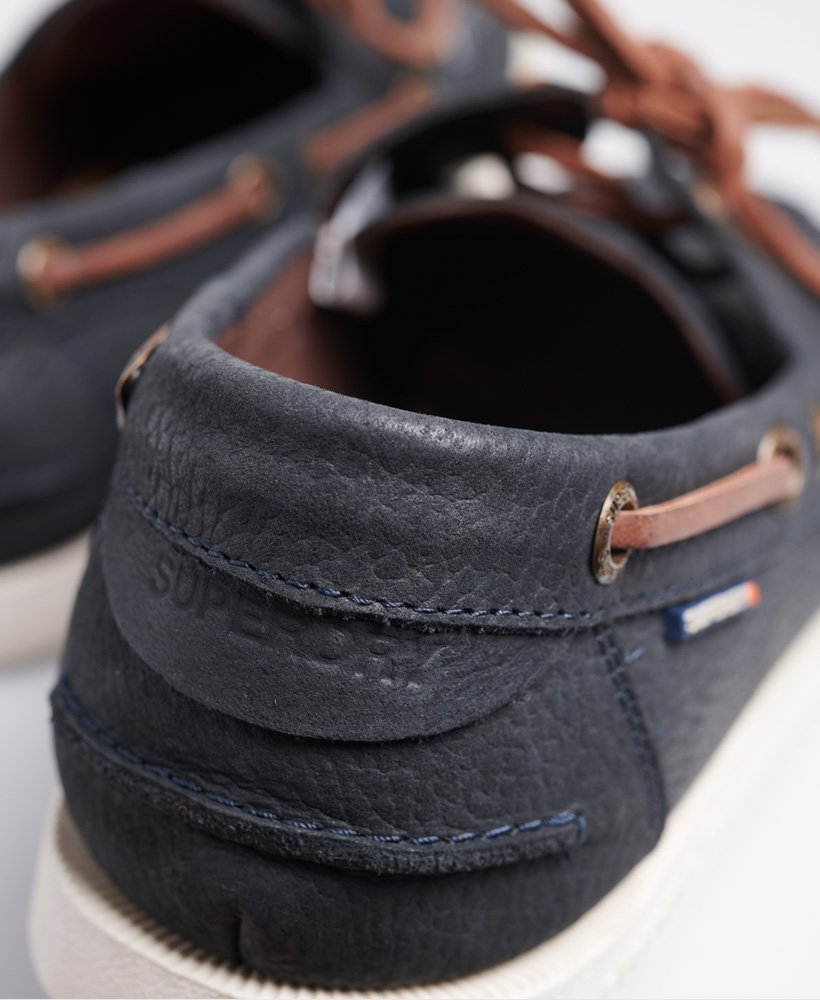 Mens - Boat Shoes in Navy | Superdry